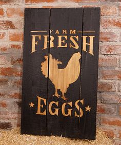 Look at this Distressed 'Farm Fresh Eggs' Wall Sign on #zulily today!