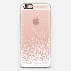 White Sparkles Transparent iPhone 6 Case by Organic Saturation Sparkly Phone Cases, Glitter Iphone 6 Case, Cool Iphone Cases, Cute Phone Cases, Iphone 6 Cases, Iphone 6 Plus Case, Phone Covers, Iphone Cases Disney, Phone Cases