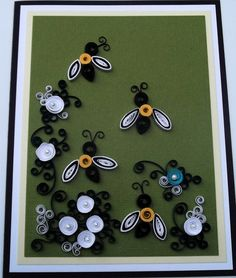 paper quilled card handmade card and by dominiquehandmade on Etsy, $15.00