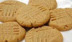 Yummy recipe for peanut butter cookies.  Warning - this recipe makes dense, thick cookies - not the lighter type of cookie from a cake mix.