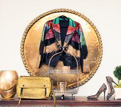 Colorful clothing display - Kelis' closet