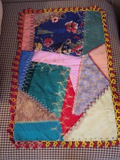 Antique Silk Crazy Quilt for Your Doll Bed
