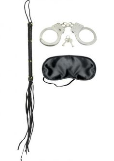Looking for the perfect beginner's bondage kit? Look no further! Explore each other's naughty side with the incredible Lover's Fantasy Kit. This all in one starter kit includes a leather cat o nine tails, metal handcuffs with keys, and a free satin love mask. The kit is perfect for beginners new to bondage and S&M play, giving you the basic bondage essentials necessary to create unlimited fetish fantasies. Perfect for role playing, spicing up your love life, and introducing BDSM into the…