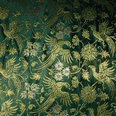 14th century, Brocade Italy, Green