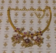 Simple Necklace Designs, Gold Necklace Simple, Gold Jewelry Simple, Gold Earrings Designs, Gold Jewellery Design, Gold Designs, Bead Jewellery, Gold Wedding Jewelry, Bridal Jewelry