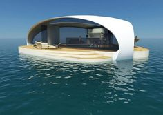 BMT Asia Pacific has unveiled a new concept for a new floating villa dubbed SeaScape that boasts an underwater bedroom. Villa Design, House Design, Floating Architecture, Architecture Design, Underwater Bedroom, Underwater House, Conception Villa, Sleep With The Fishes, Villas