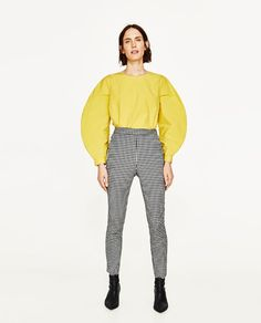 ZARA - DONNA - TROUSERS WITH SMALL CHECKS