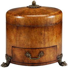 Jonathan Charles Round Masur Birch Jewellery Box