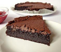 Citromhab: Diós csokoládétorta