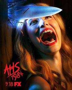 AHS: the ninth season of FX's American Horror Story, is a campy take on the classic slasher movie genre. American Horror Story Coven, Billie Lourd, Matthew Morrison, Gus Kenworthy, Usain Bolt, Evan Peters, Slasher Movies, Horror Movies, Scary Movies