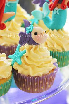 Under the sea cupcakes    facebook.com/bakemegorgeous
