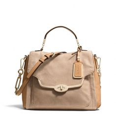 The Madison Small Sadie Flap Satchel In Glitter Lizard from Coach