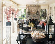 Charlotte Moss's Hamptons screened porch - Elle Decor.