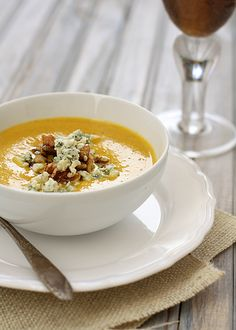 pumpkin soup with toasted walnuts