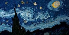 Ο Τούρκος καλλιτέχνης που δημιουργεί έργα του Βαν Γκογκ στο νερό [ΒΙΝΤΕΟ]