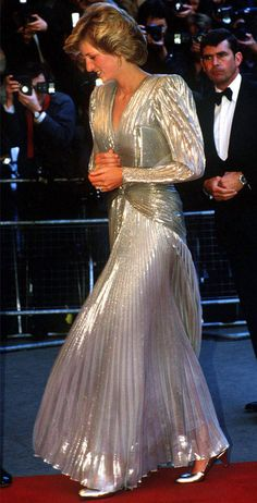 Dynasty Di from Princess Diana's Best Looks Diana was nicknamed Dynasty Di by the tabloids due to the wide-shouldered gowns that she wore, including this silver Bruce Oldfield.