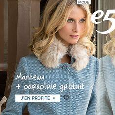 Manteau + parapluie gratuit Sweatshirts, Sweaters, Fashion, Mantle, Fashion Styles, Moda, Pullover, Sweatshirt, Sweater