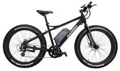 Rambo R750 48V 750W Matte Black Fat Tire Electric Mountain Bicycle