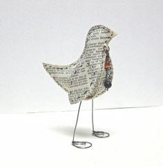 MIxed Media Paper Bird