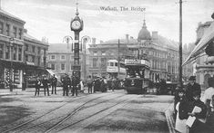 Clock on The Bridge - known locally as the 'Four Faced Liar' - each face showed a different time. Old Pictures, Old Photos, Walsall, West Midlands, My Town, The Good Old Days, Birmingham, Around The Worlds, Street View
