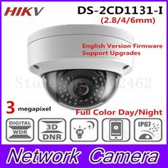 84.00$  Buy here -  Free shipping New Arrival HiK 3.0 MP CMOS Network Dome Camera DS-2CD1131-I replace DS-2CD2135F-ISFixed Lens IP Camera  #buychinaproducts