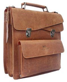 Handmade Genuine Leather Messenger Bag/ Shoulder Bag/ IPAD Bag/ Macbook Bag…