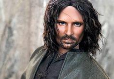 Aragorn as... a doll.... handpainted faceup by Noel Cruz