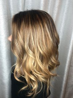 Hand painted Carmel blonde balayage