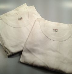 TWO 1950s Vintage Men's White COMBED by rememberwhenemporium, $39.95