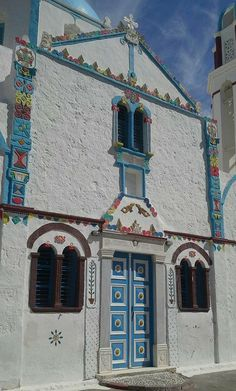 Incredible lil church at Thirasia, Santorini Greece