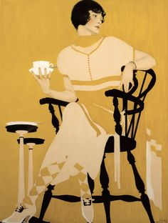 Courtesy of the Kelly Collection of American Illustration, Coles Phillips, The Magic Hour, 1924, gouache on paper.