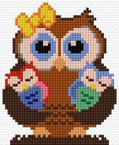 I really love this awesome photo Cross Stitch Owl, Cross Stitch For Kids, Cross Stitch Animals, Cross Stitch Charts, Cross Stitch Designs, Cross Stitching, Cross Stitch Embroidery, Hand Embroidery, Cross Stitch Patterns