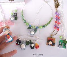 Studio ghibli fanart accessories by elvira-creations.deviantart.com on @DeviantArt