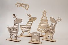 Beautiful laser cut Reindeer Set from Irish store Snow Event Design. WANT!