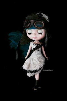 Another gorgeous Blythe - steampunk style...