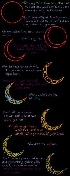 Celtic Moon Knot Tutorial by YokoRieko