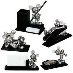 Pewter Mickey Mouse Desk Set -- 5-Pc. | On Sale | Disney Store