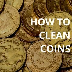 to clean coins using Flitz. Return old coins to their original luster using these water-based cleaners.How to clean coins using Flitz. Return old coins to their original luster using these water-based cleaners. Deep Cleaning Tips, House Cleaning Tips, Cleaning Hacks, Cleaning Pennies, Cleaning Recipes, Cleaning Solutions, Diy Hacks, All You Need Is, How To Clean Coins
