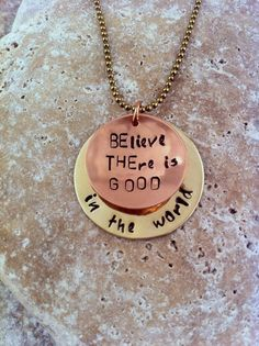 BElieve THEre is GOOD in the world  Hand by ClassyCommotion, $6.99