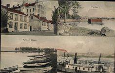 HEDMARK FYLKE  HAMAR. Kolorert 4-bilders bl.a. scener ved Mjøsa Utg P. Alstrup, Postgått 1905,