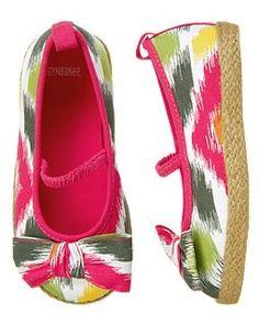 Batik Print Espadrille Shoe