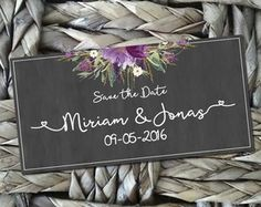 Placa Save the Date tipo Lousa