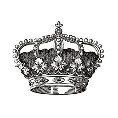East Urban Home Antique Royal Monarch Square Pillow Cover Size: Shabby, Crown Printable, Image Deco, Crown Tattoo Design, Photo Deco, Foto Transfer, Desenho Tattoo, Monochrom, Crown Royal