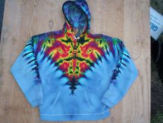 Tie Dye Hoodie Size Large by tiedyetodd on Etsy
