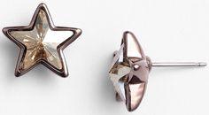 Givenchy Stars Crystal Stud Earrings