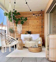 String Lights Outdoor, Home Decor Inspiration, Decor Ideas, Decorating Ideas, Sunroom Decorating, Ideas Fáciles, Apartment Balcony Decorating, Apartments Decorating, Decorating Bedrooms