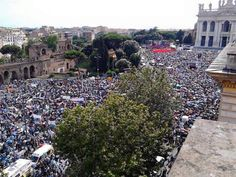 June 20th, Rome: one million people to say: the marriage is between a man and a woman and that's it the family!