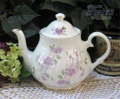 Heirloom French Lilac Bone China Teapot