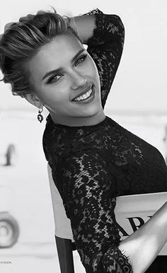 #ScarlettJohansson is my husband's #1 on his list (remember #friends?!). I can live with that, she's a real Goachi woman. She's got confidence, class, a great laugh and a healthy figure! Love, Sarah www.goachi.com