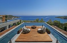 Mandarin Oriental, Bodrum, Turkey: Regulars will be pleased to hear that the Mandarin's trademarks are all there; from the pristine Cake Shop, to the 3-storey spa and the Michelin-starred restaurants, all overlooking the Aegean Sea on the aptly named Paradise Bay, dotted with superyachts. Those who fall in love at first sight should consider snapping up one of the on-site villas, so they never have to leave. #Beach #MandarinOriental #Wanderlust #Travel #Luxury #Resort